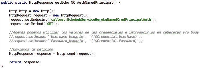 Código Apex para petición con Named Principal